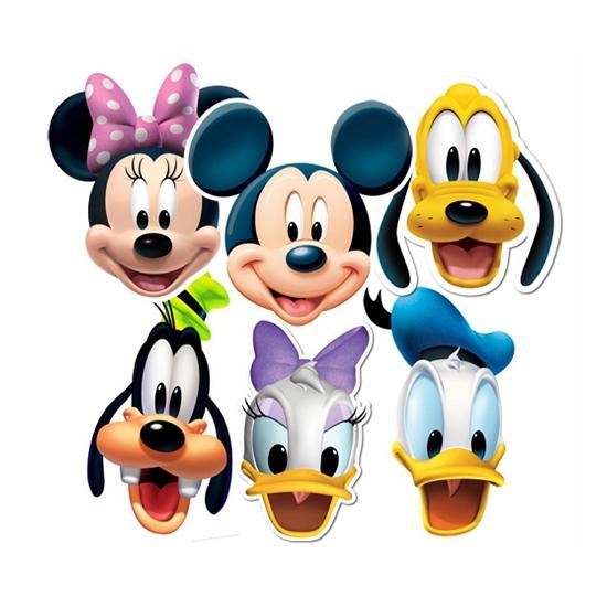 Kartonnen Disney maskers 6 stuks