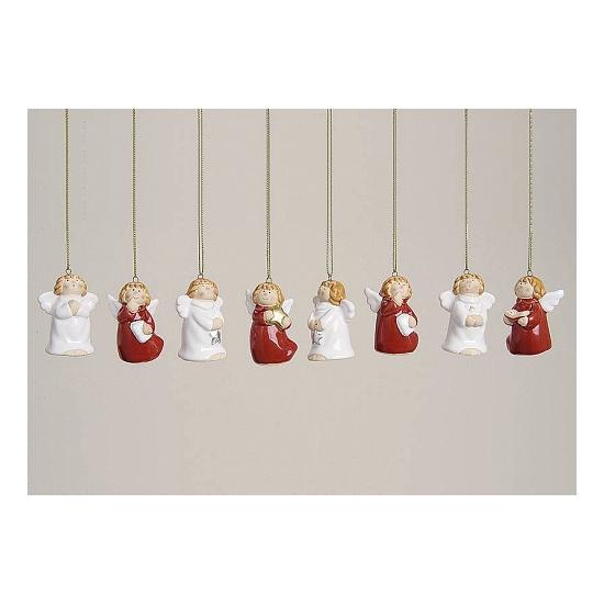 Kerst decoratie engeltjes 8 stuks