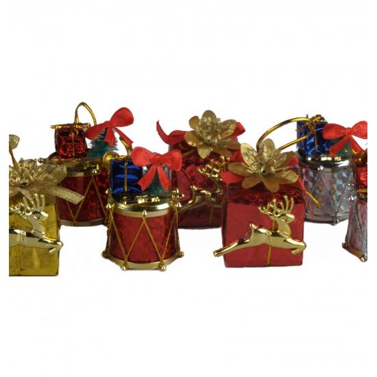 Kerst versiering cadeautjes 4 stuks