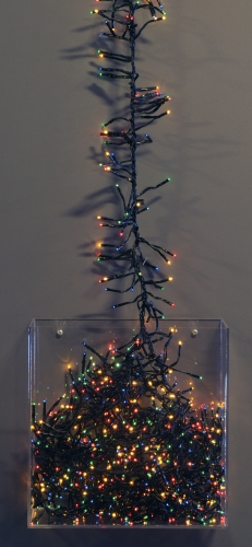 Kerstboom gekleurde verlichting 450 cm