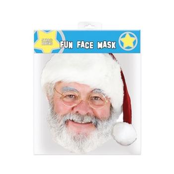 Kerstman gezichtsmasker