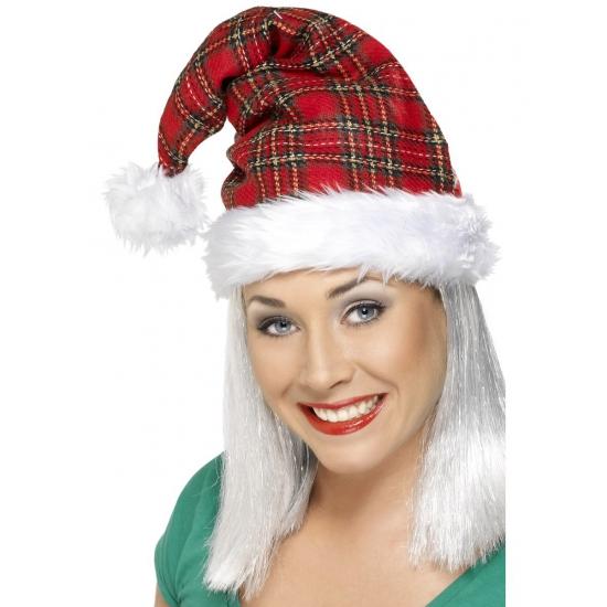 Kerstmuts geruit