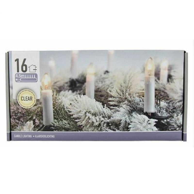 Kerstverlichting kaars 16 lampjes