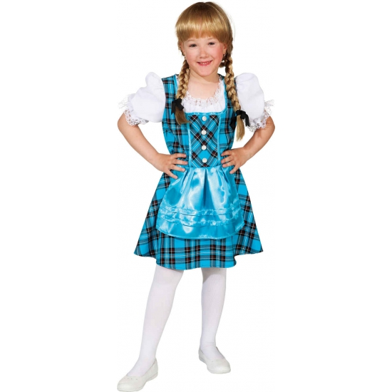 Kinder jurk Tirol blauw