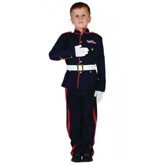 Kinder kostuum ceremoniele soldaat