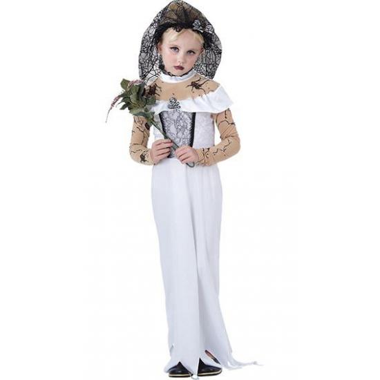 Kinder kostuum zombie bruid