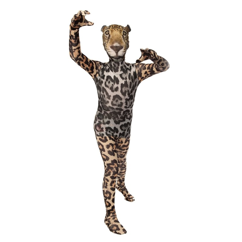 Kinder morphsuit met luipaarden opdruk