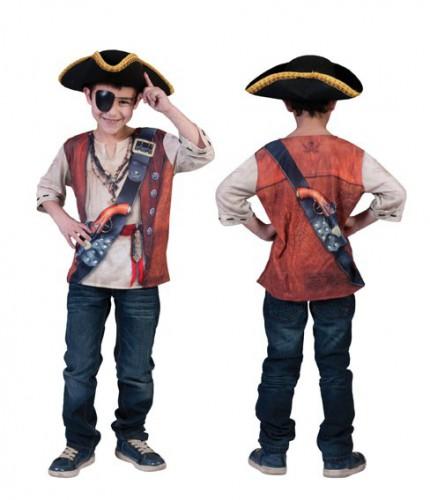 Kinder piraten shirt 3D