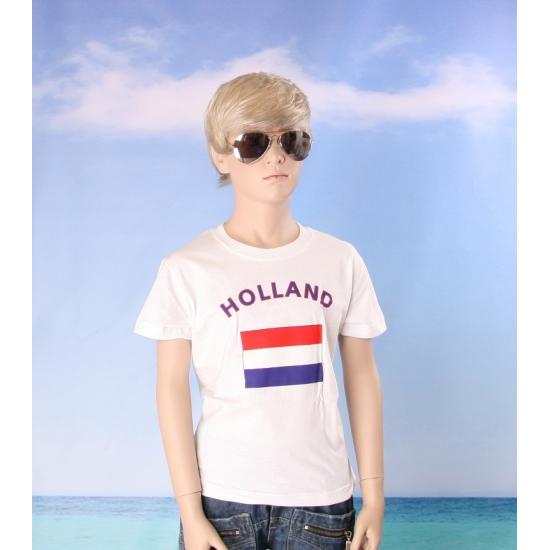 Kinder t shirts van vlag Nederland