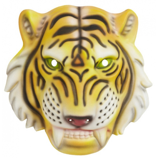 Kinder tijger masker plastic