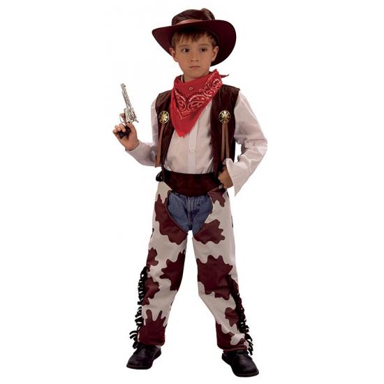Koeprint cowboy kostuum voor kinderen