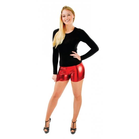 Korte broek dames rood