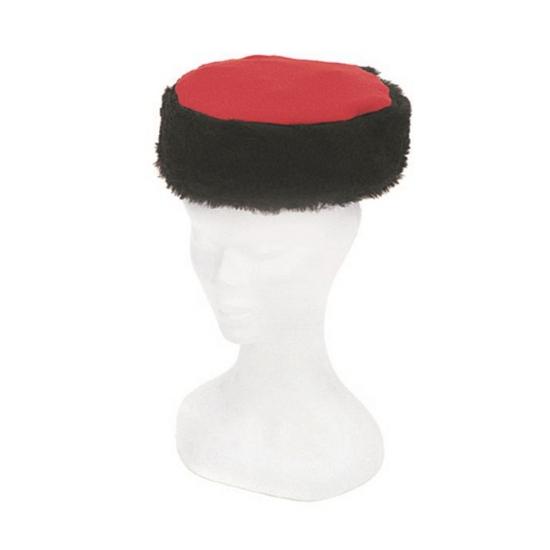 Kozak verkleed muts zwart/rood