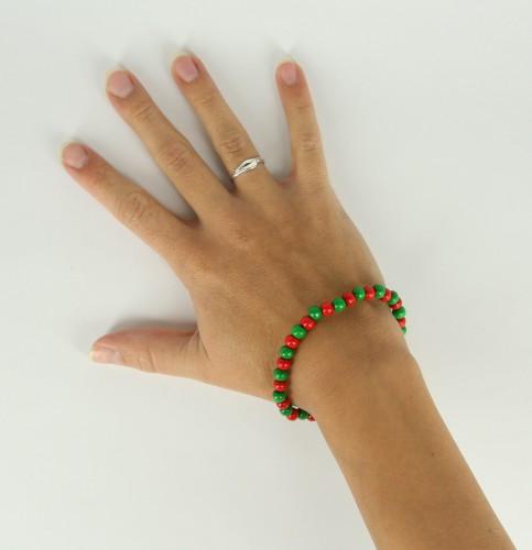 Kralen armband rood groen