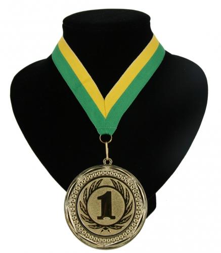 Landen lint kampioensmedaille groen en geel