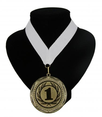 Landen lint nr. 1 kampioensmedaille wit