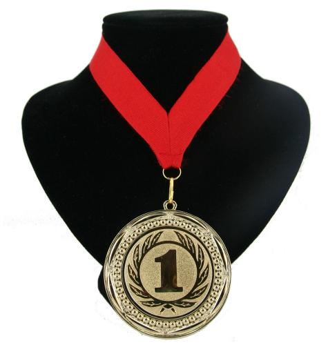 Landen lint nr. 1 medaille rood