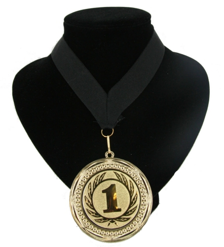 Landen lint nr. 1 medaille zwart