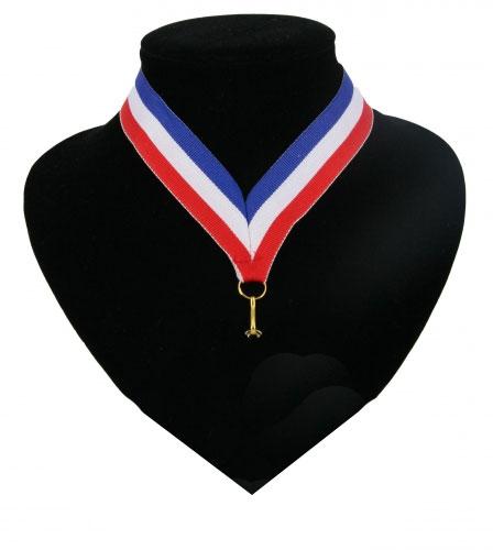 Landen lint voor medaille blauw wit en rood