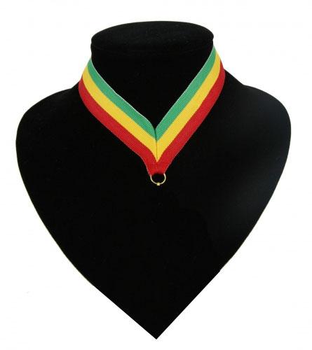 Landen lint voor medaille groen, geel en rood