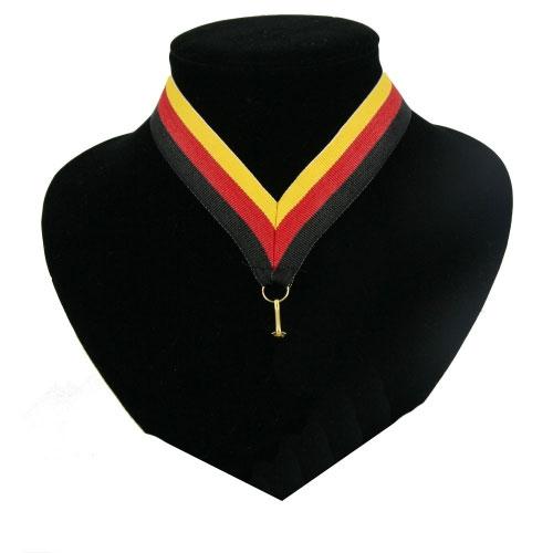 Landen lint voor medaille zwart, rood geel