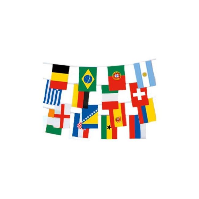Landen vlaggenlijn internationaal 9 meter