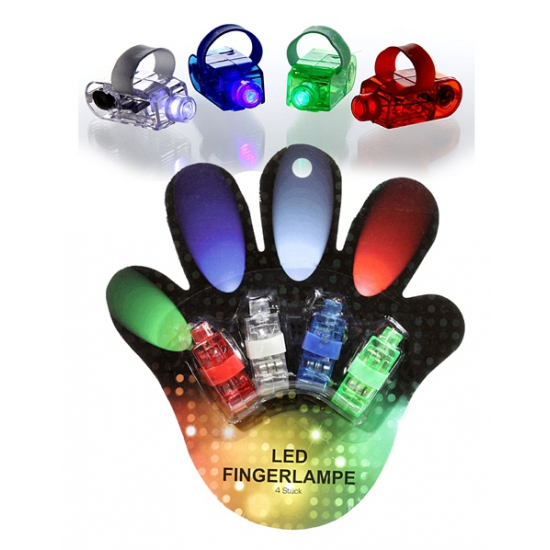 LED lampjes voor op je vinger 4 stuks