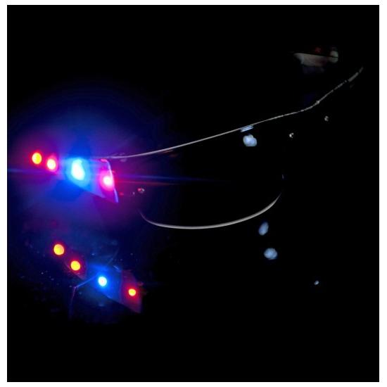 LED verlichte stoere feestbrillen