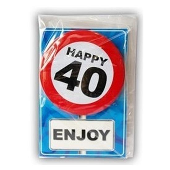 Leeftijd ansichtkaart 40 jaar