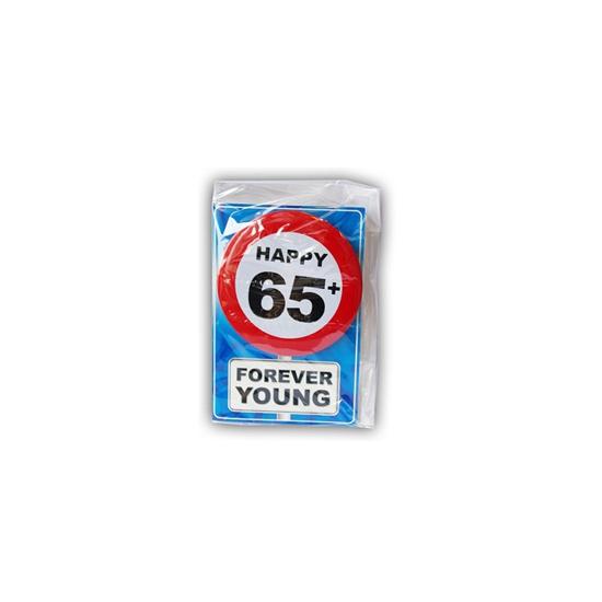 Leeftijd ansichtkaart 65 jaar