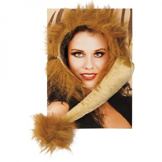 Leeuwen verkleed setje voor volwassenen