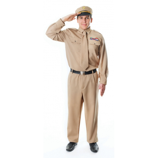 Leger officier WOII kostuum