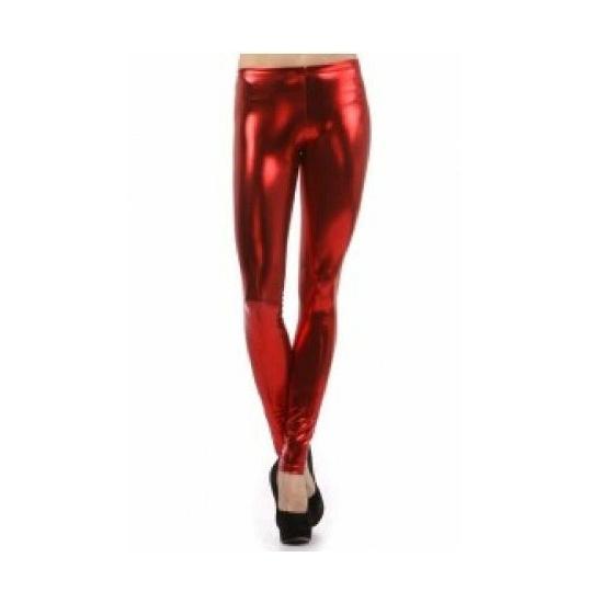 Legging fel rood gekleurd