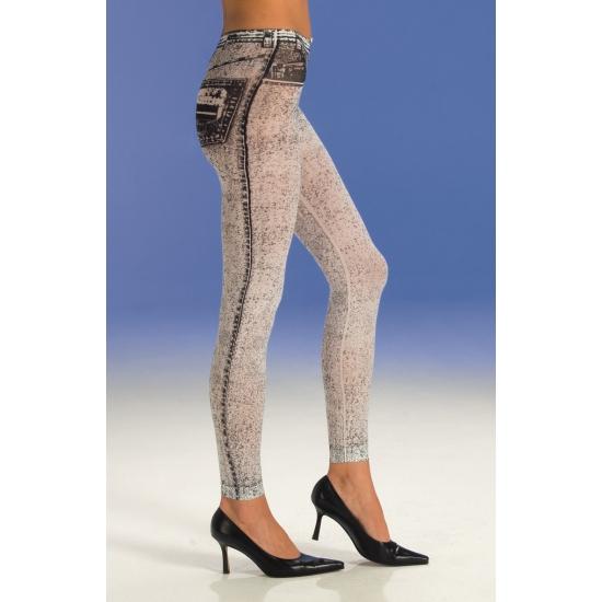 Legging met spijkerbroek look