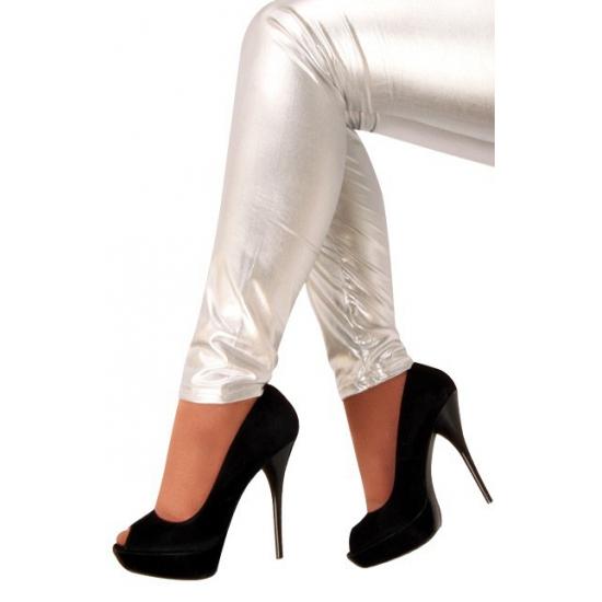Legging zilver gekleurd