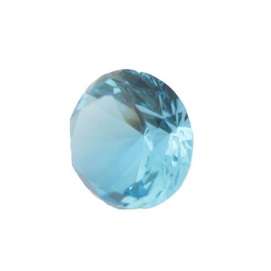 Lichtblauwe diamanten van glas 8 cm per stuk