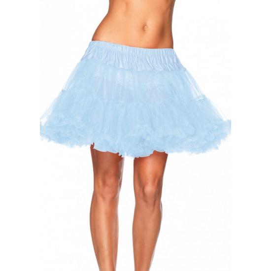 Lichtblauwe onderrok petticoat luxe