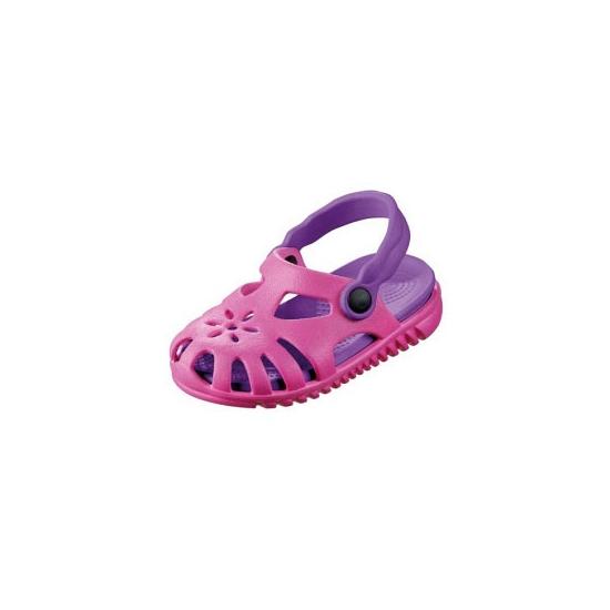 Lichtgewicht kinder camping schoentjes roze met paars