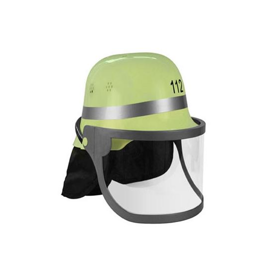 Lichtgroene Duitse brandweer helm
