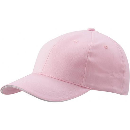 Lichtroze baseball cap