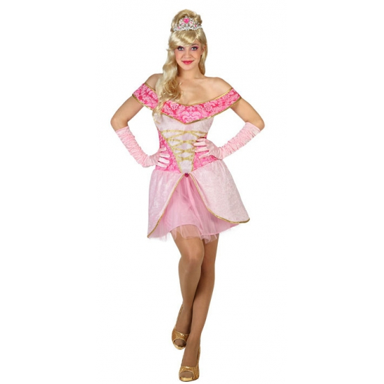 Lichtroze prinses verkleedkleding