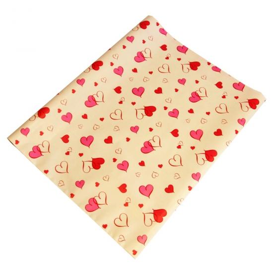 Liefes inpakpapier roze hartjes