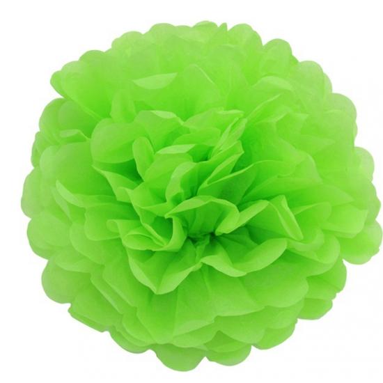 Lime groene bloem pompom 25 cm