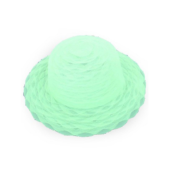 Lime groene dameshoed van organza stof