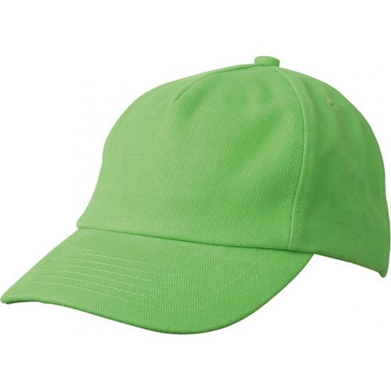 Lime groene kinder baseballcaps