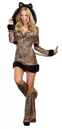 Luipaard dames kostuum
