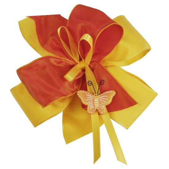 Luxe cadeaustrik geel   oranje