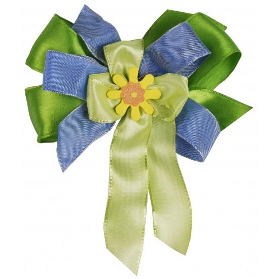 Luxe cadeaustrik groen   blauw