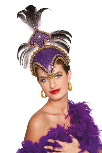 Luxe hoofdtooi paars voor dames