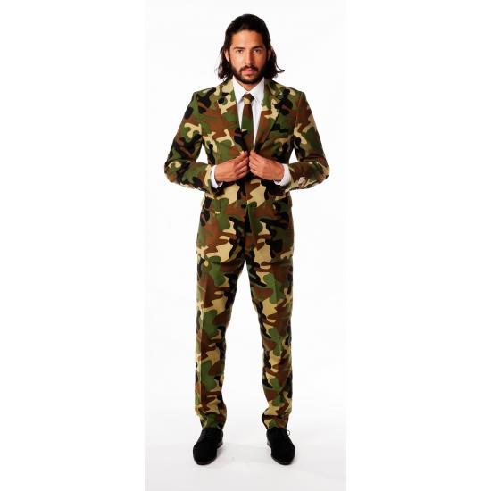 Luxe pak voor heren camouflage